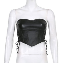 Load image into Gallery viewer, 'Robyn' Faux Leather Crop Top