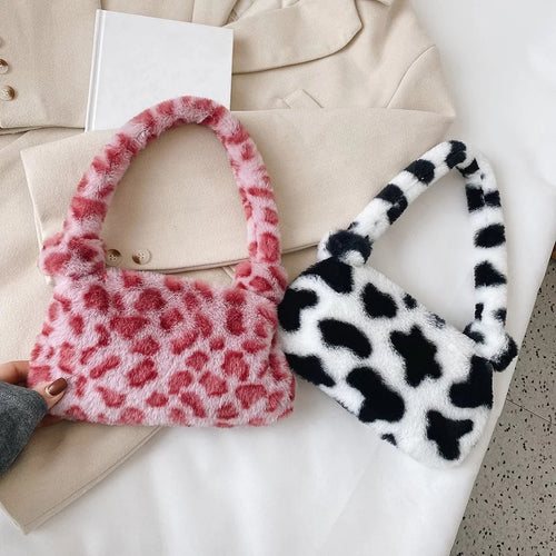 Fluffy Baguette Bag - 6 Colours