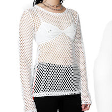 Load image into Gallery viewer, The essential long sleeve fishnet top