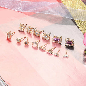 14 pack of earrings