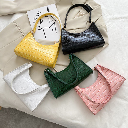 Faux Alligator Baguette Bag - 5 Colours