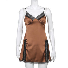 Load image into Gallery viewer, 'Carissa' Satin Look Mini Dress - 3 Colours