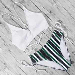 'Tahiti' high waist bikini set