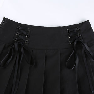 'Lisa' Lace Up Skirt - 2 Colours