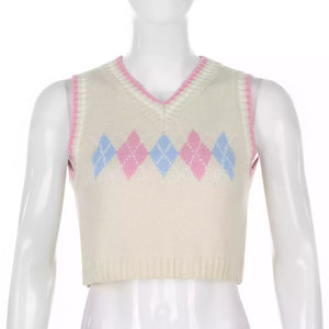 'Scarlett' knitted crop vest