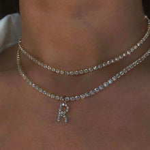 Load image into Gallery viewer, Rhinestone custom choker necklace