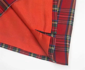 'Charlie' red plaid skirt