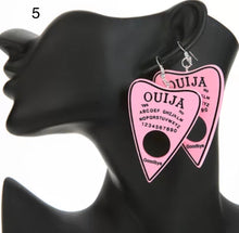 Load image into Gallery viewer, Ouija Planchette earrings - 22 colours
