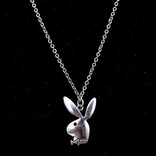 Playboy bunny silver necklace