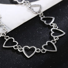 Load image into Gallery viewer, Heart choker - gold & silver