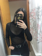 Load image into Gallery viewer, Essential black mesh crop top