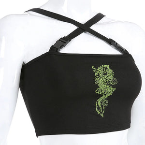 'Taylor' embroidered crop top - 3 colours