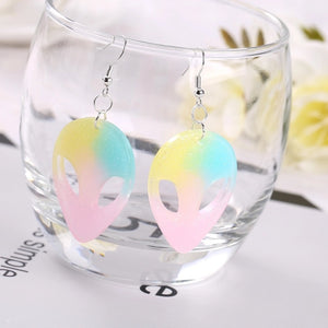 'I want to believe' alien earrings - 4 colours