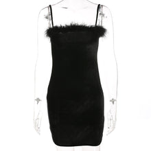 Load image into Gallery viewer, 'Scary spice' velvet bodycon dress