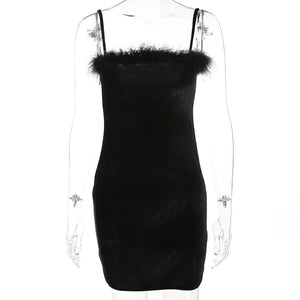 'Scary spice' velvet bodycon dress