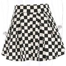 Load image into Gallery viewer, 'Don't slow me down' checkered skirt