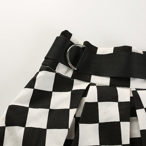 'Don't slow me down' checkered skirt