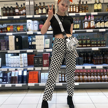 Load image into Gallery viewer, 'Checkmate' checkered full zip pants