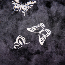 Load image into Gallery viewer, 'Butterfly fly away' velvet cropped halter top