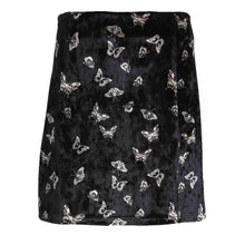 Load image into Gallery viewer, 'Butterfly fly away' high waist velvet skirt