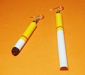 Cigarette earrings - 3 styles
