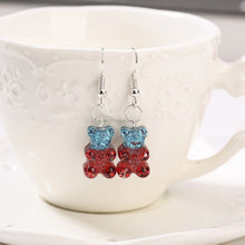 Load image into Gallery viewer, Gradient glittery gummy bear earrings- 13 colours