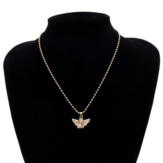 'Guardian angel' necklace - silver & gold