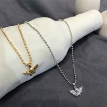 Load image into Gallery viewer, 'Guardian angel' necklace - silver & gold
