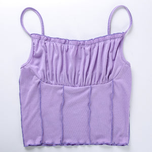 'Anaya' ruched crop top - 4 colours