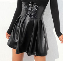 Load image into Gallery viewer, 'Centre of attention' high waist pleather skirt