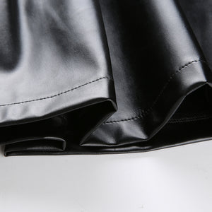 'Centre of attention' high waist pleather skirt