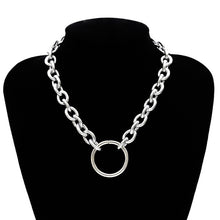 Load image into Gallery viewer, Chunky chain choker necklace - silver and gold
