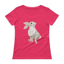 Load image into Gallery viewer, Cute Bunny Ladies' Scoopneck T-Shirt