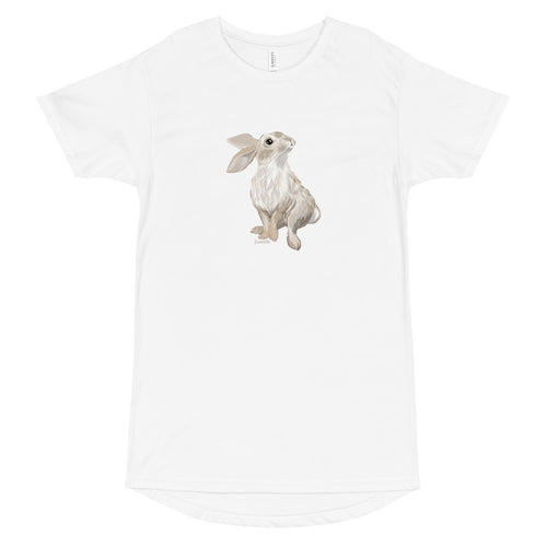 Cute Bunny Long Body Urban Tee
