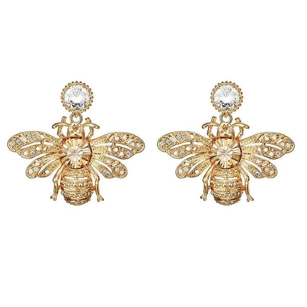 Bee Gold Tone Earrings