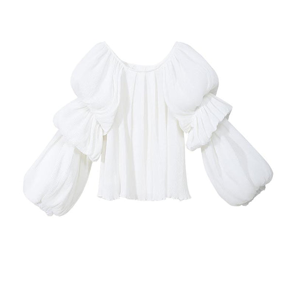 Bell Sleeve White Top
