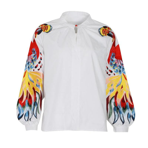 Bird Embroidered Top