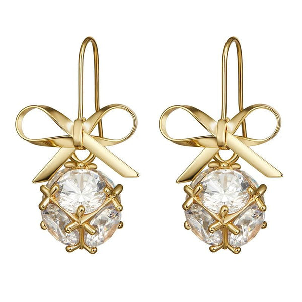 Bow Crystal Earrings