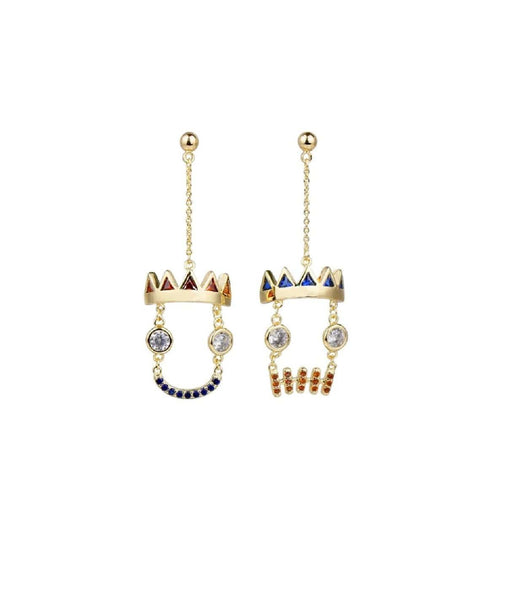 Cacti Gold Tone Earrings