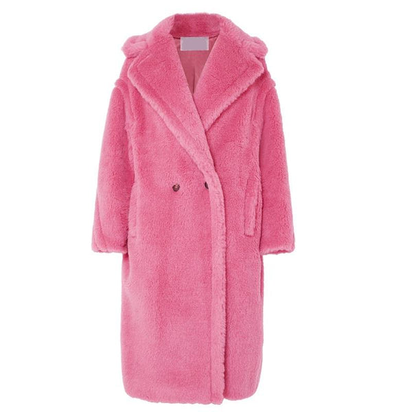 Chico Pink Faux Shearling Coat