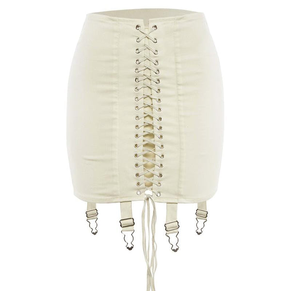 Cica Lace Up Skirt