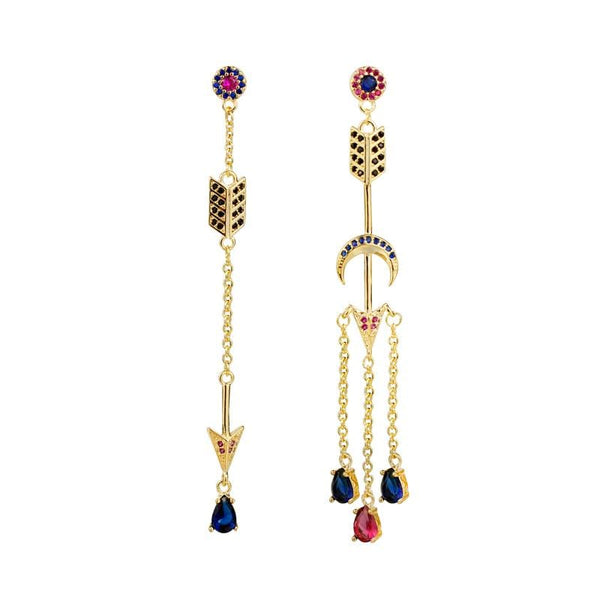 Color Crystal Earrings