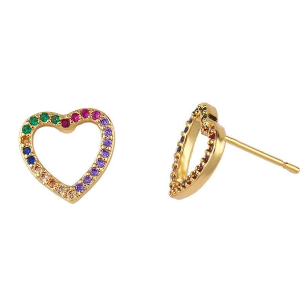 Color Heart Earrings