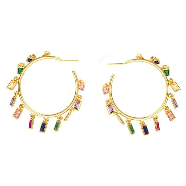 Color Hoop Jane Earrings