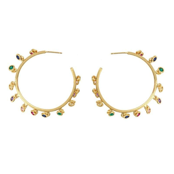 Color Hoop Tina Earrings