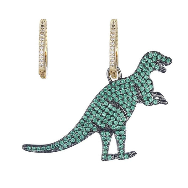 Dinosaur Crystal Earrings