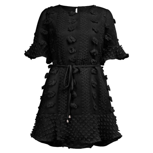Dore Details Black Dress