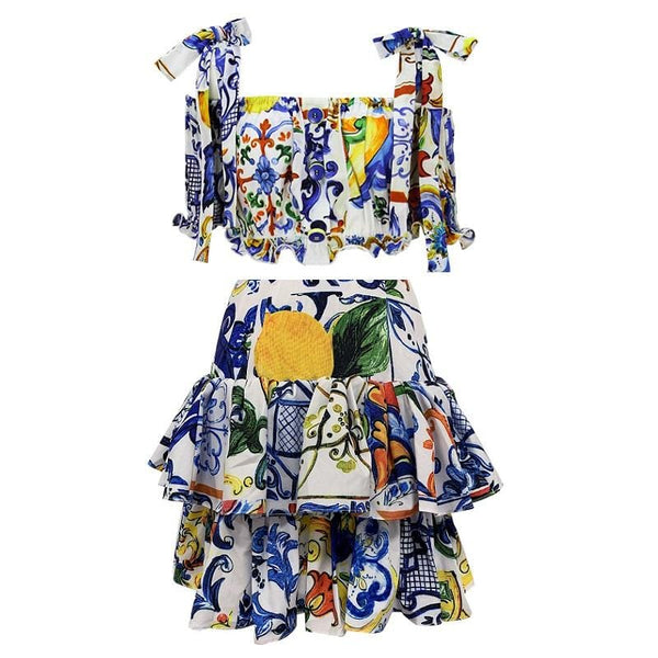Eila Printed Dress Set
