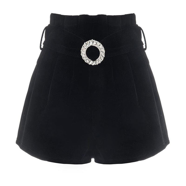 Embellished Velvet Short
