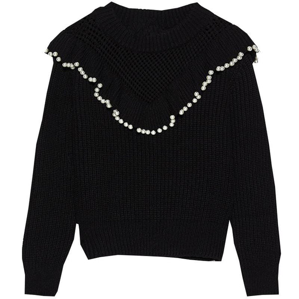 Faux Pearl Sweater